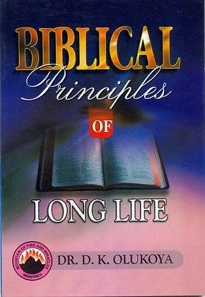 Biblical Principles of long Life