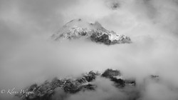 Mountain in the clouds (Grindelwald, Switzerland)