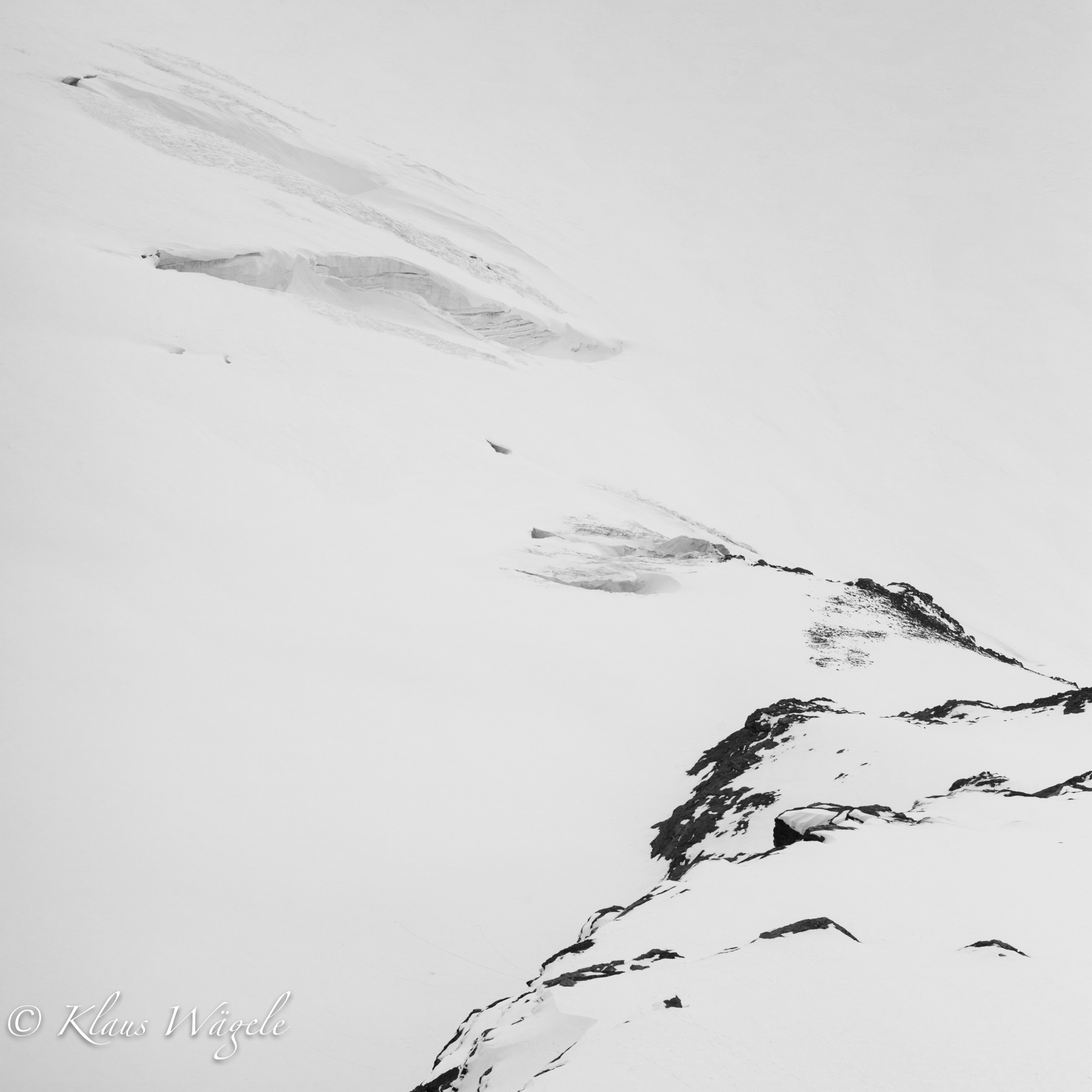 Rocks and Snow (Jungfraujoch, Switzerland)