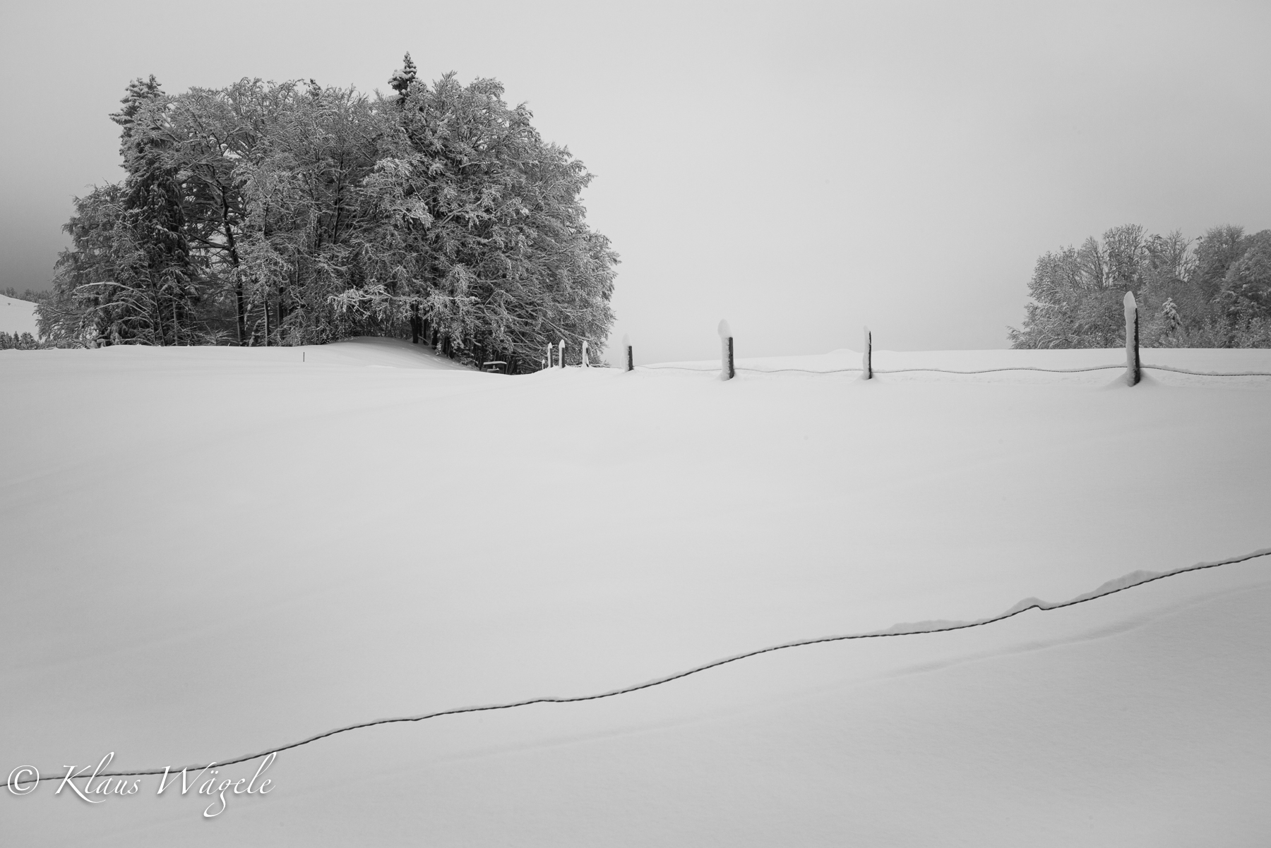 Snow and fence (Bavaria, Germany)