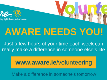 Volunteer with Aware in Waterford