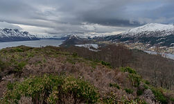 Hjørungdalsvatnet frå Hjørungneshornet