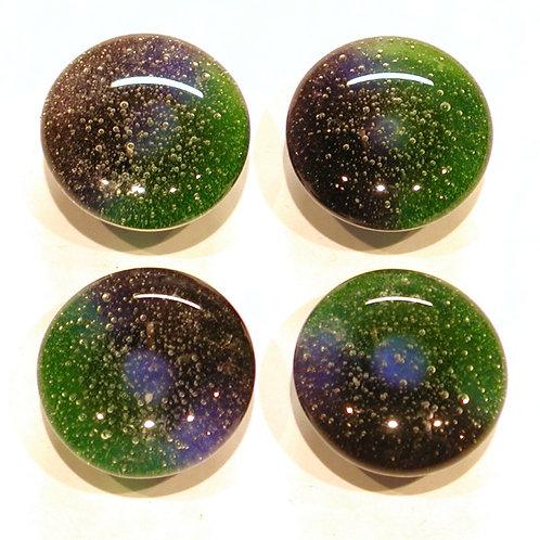 Cabinet-Drawer Pulls, Spring Green, Violet, Blue