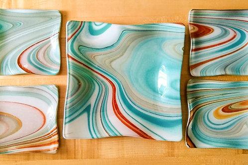 Plate Set--Southwest Swirl