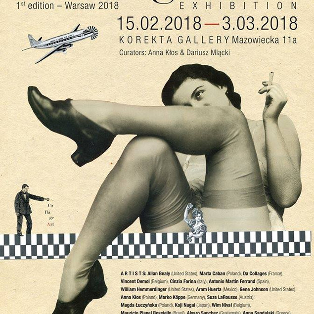 Retroavangarda's Collage Art Exhibition, Varsóvia - 2018