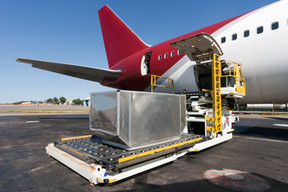 Loading platform of air freight to the a