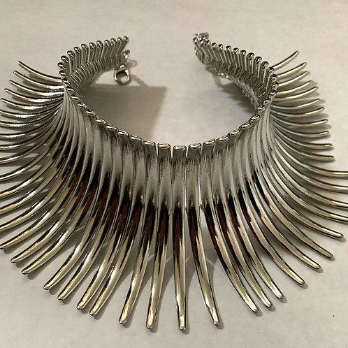 Silver Metal Choker