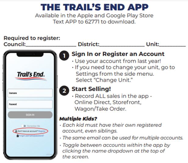 Trails End App Registration details.png