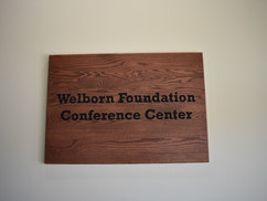 Welborn Room Plaque