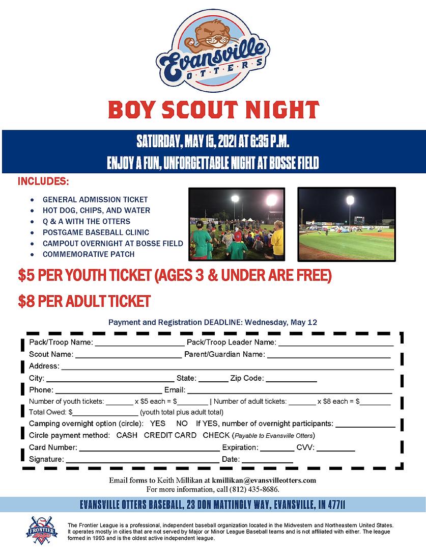 2021 Boy Scout Night Registration Form A