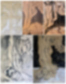 Student drawings_ negative space, draper