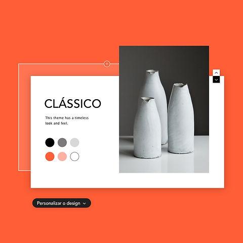 Imagem de um tema de site chamado Clássi