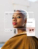 Imagen del blog de moda Half Full Circle en las versiones de escritorio y móvil