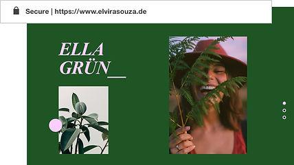 Benutzerdefinierte Domain für Portfolio-Website namens Elvira Gron