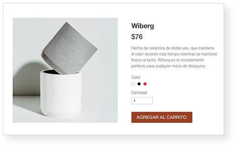 Tienda online de Wix para una tienda de cerámica que muestra una pila de tazas pequeñas