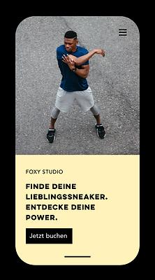 Mobile Fitness-Website mit Buchungen erstellt mit Wix.