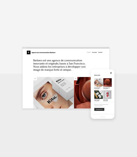 Site internet d'une agence de communication