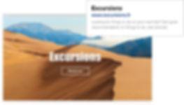 Référencement pour la page d'accueil d'un site de voyage appelé «Road Tripper».