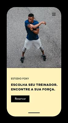 Site de agendamentos mobile fitness criado com Wix