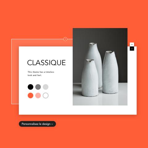 """Image d'un thème de site web appelé """"Classic""""."""
