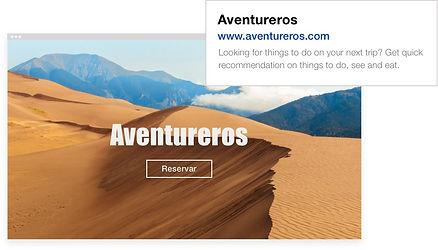 """SEO para la página de inicio de un sitio web de viajes llamado """"Road Tripper"""""""