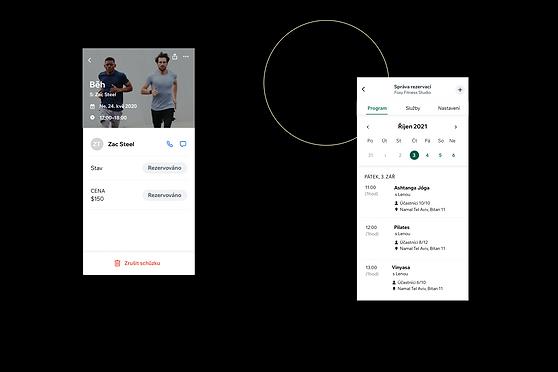 Zobrazení fitness centra a jeho vzhledu v aplikaci Wix Owner.