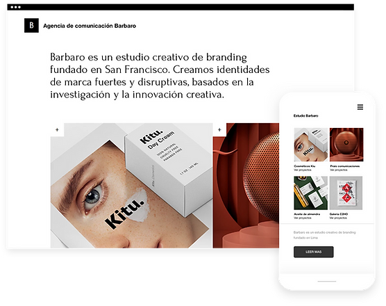 Sitio web de Brand Studio