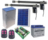 Double swing gate kit solar powered