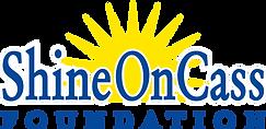 ShineOnCass Logo blue type white outline