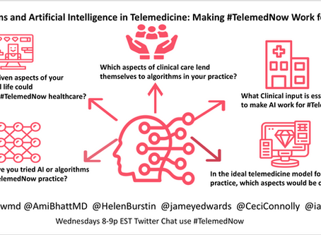 Algorithms and artificial intelligence in telemedicine: Making #TelemedNow Work for Us