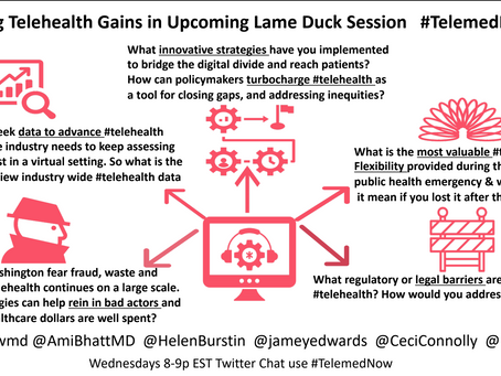 Securing #telemedicine gains in the upcoming lame duck session