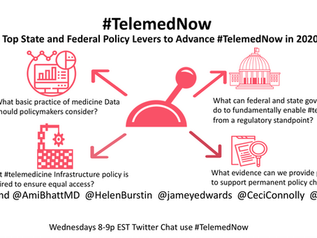 Which top state and federal policy levers to advance #TelemedNow in 2020 and beyond?