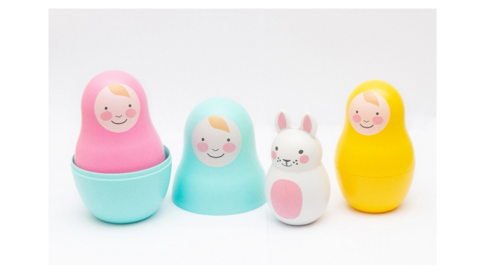 Nesting Babies with chiming Bo Bunny