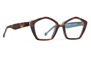 Hexagonal eyeglass frame