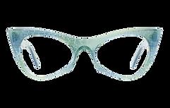 Green eyeglass frame
