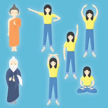 Students for Falun Gong | Character Designs