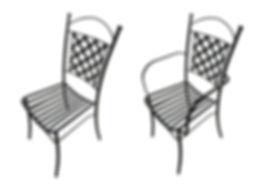 sedia in ferro battuto