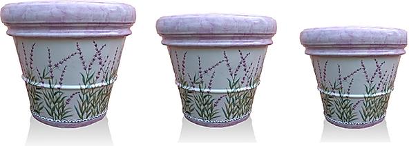vaso in ceramica lavanda