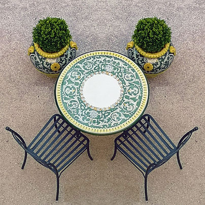 luxury garden table
