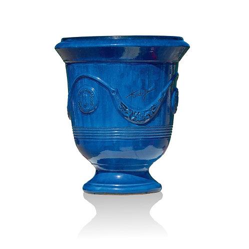Vaso Anduze smaltato blu