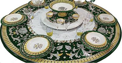 tavolo tondo con piano n ceramica deruta