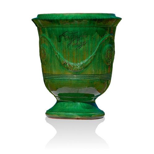 Vaso Anduze smaltato verde