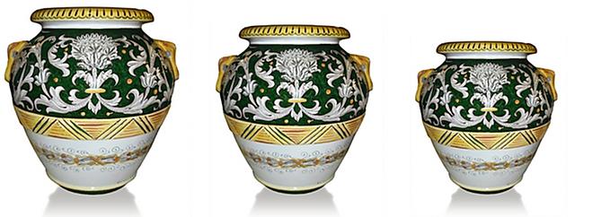 orcio in terracotta e ceramica di deruta