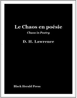 Le Chaos en poésie / Chaos in Poetry
