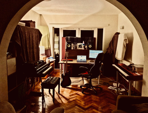 A Wandering Wires studio set up for recent album 'Homecoming'