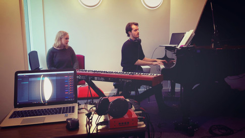 John and Wandering Wires' singer Olivia Williams working on January Song from recent album 'Homecoming'