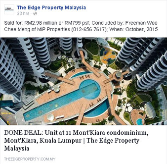 Done Deal featured in The Edge Property Malaysia