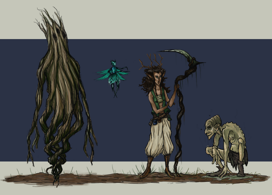 Creatures of moss and Stone