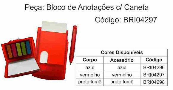 Bloco de Anotações com Caneta -BRI04296 à BRI04298
