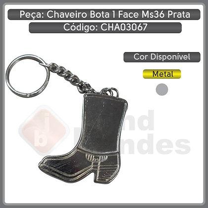 Chaveiro Metal Bota 1 face M36